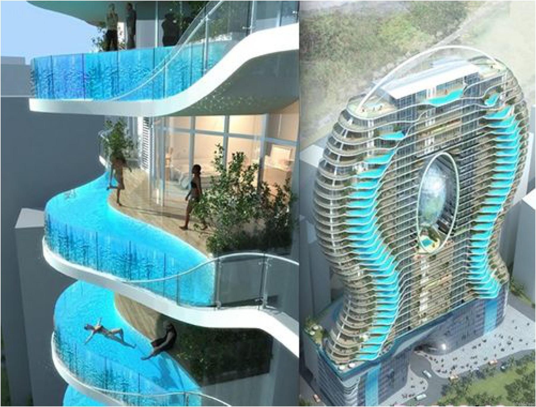Самые запоминающиеся балконы в мире.