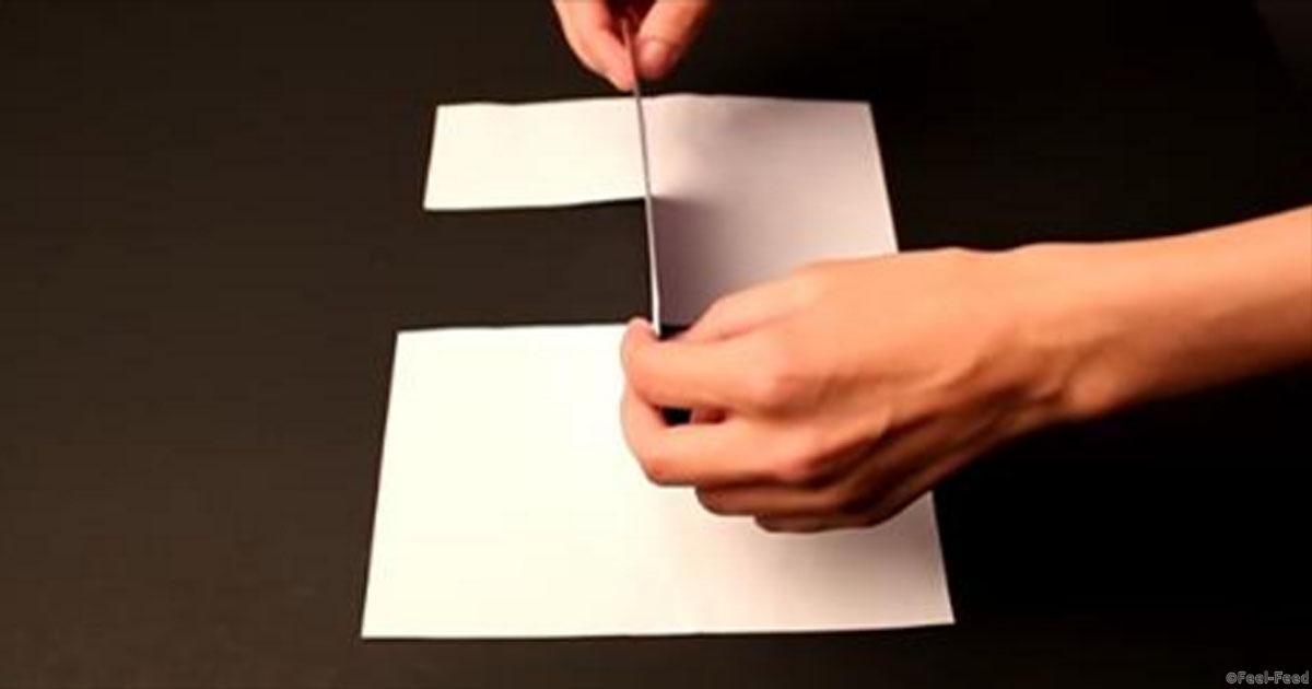 Как сделать трюки из бумаги 835