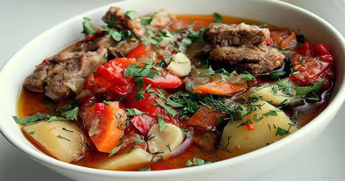 Суп хашлама из говядины с картофелем рецепт
