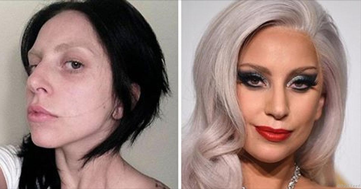 Знаменитости без макияжа и с ним
