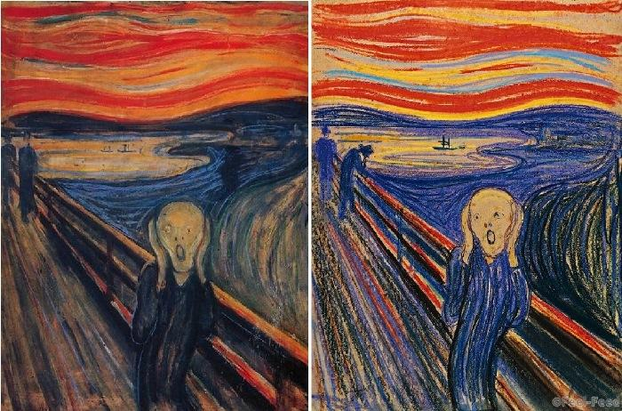 an analysis of the first expressionist painting the scream by edvard munch Edvard munch, born 12 december in time he became an important artist of the expressionist style munch explored the themes of love  the scream, art history.