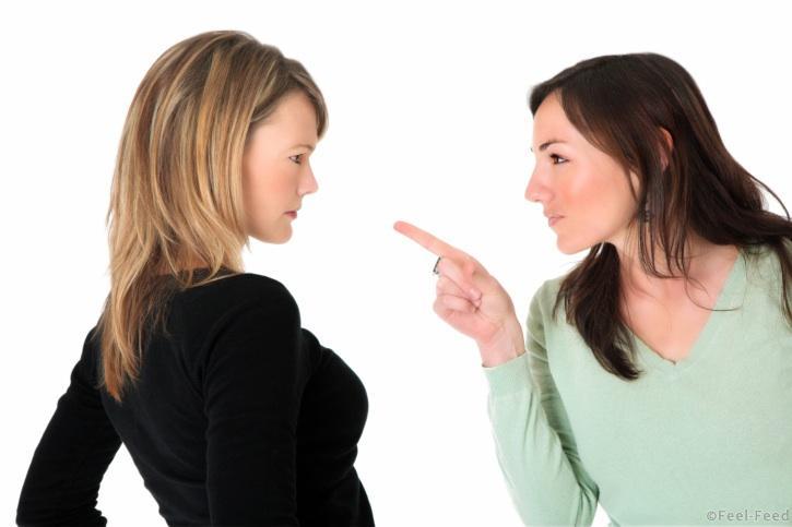 Two women having a fight
