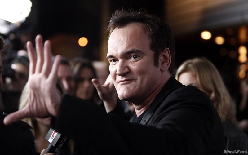 "Director Quentin Tarantino arrives at the Blu-Ray and DVD release event for ""Inglourious Basterds"" in Los Angeles on Monday, Dec. 14, 2009. (AP Photo/Matt Sayles)"