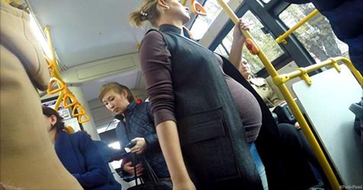 Беременным не уступают место в метро 374